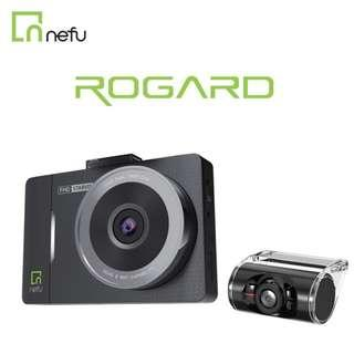 nefu ROGARD No.1 Korea car camera/Dashcam-Front and Rear Dual Camera, Superior Night Vision 1080P FHD, Car Video Recorder With G-sensor, Loop Recording, Motion Detection, 24 HOURS RECORDING