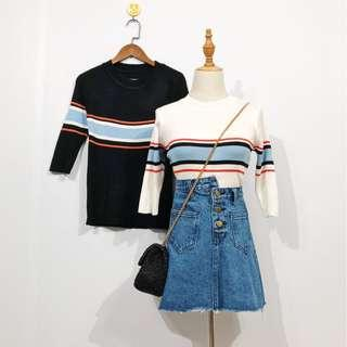 Instocks Two Colour Long Sleeve Top (PO)