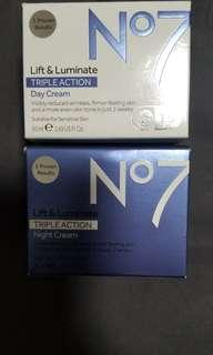 No.7 Triple day and night cream