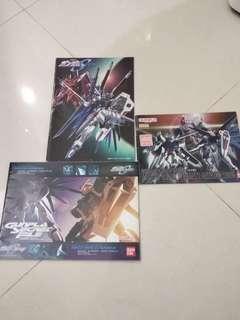 Bandai 高達模型年鑑2005 & Gundam Seed 共三本 HG MG