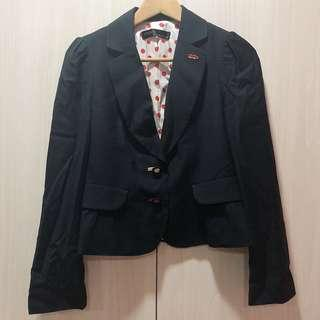 Made in Italy Blazer - Cute Polka Dot & Buttons Detail