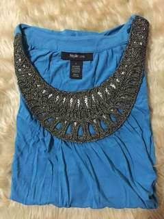 Style & Co. Teal Short Sleeve Top