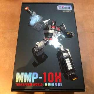 Transformers Transform World - MMP-10H MMP10H Upsized MP-10 Optimus Prime / Convoy (MMP10 Black Color Variant) (MISB) (Returned buyer would get Diecast Autobot logo for Free) !