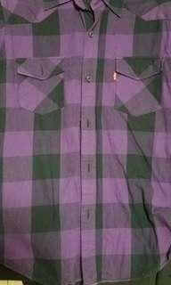 Levi's long sleeves shirt 格仔恤衫