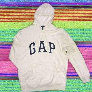 🚚 Gap 長袖帽踢上衣 白