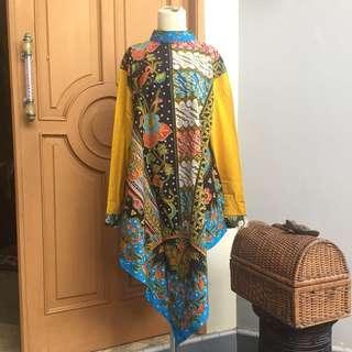 Baju Batik Kuning Hitam