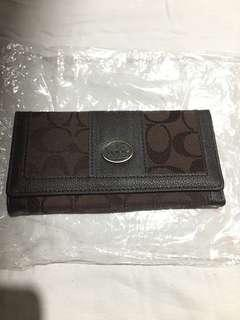 Coach Long Wallet Brown