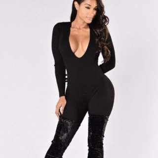 I See You Looking Jumpsuit - Black
