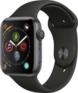 Apple Watch Series 4 Space Grey Aluminium Case With Black Sport Band Cellular - 44mm