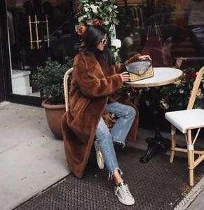 H&M teddy coat size 2