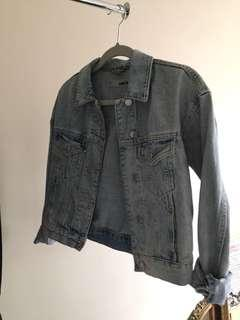 Topshop denim jacket size 4 US