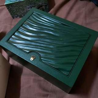 Rolex big watch box green
