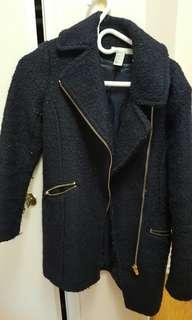 H&M size small (4) navy blue peacoat
