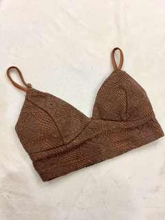 Bikini Top Bralette Lace Knitted