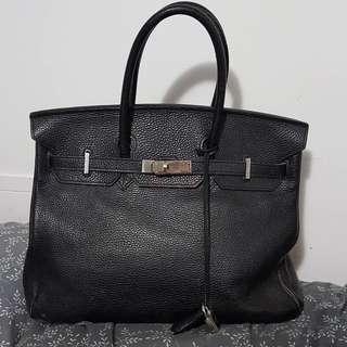 Hermes Birkin inspired leather bag