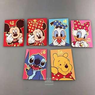 Instock Ang Pao Disney Characters Mickey Minnie Donald Duck Stitch Winnie The Pooh