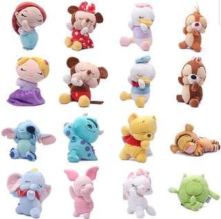 Soft Toy : Stitch / Tigger / Donald / Daisy Duck / Chip / Dale / Piglet / Pooh / Marie / Monster Inc / Lady Trump / Mickey / Minnie Mouse / Dumbo / Belle