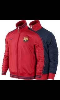 Nike 西甲 巴塞隆納 FCB 球員版 職業選手 立領雙面外套 世界盃 足球 FIFA