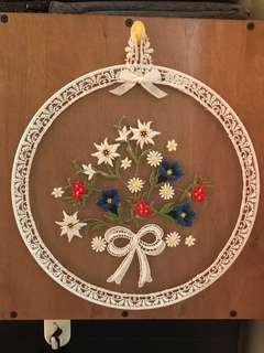 Lace Wall Hanger Decor - Handcrafted from Switzerland