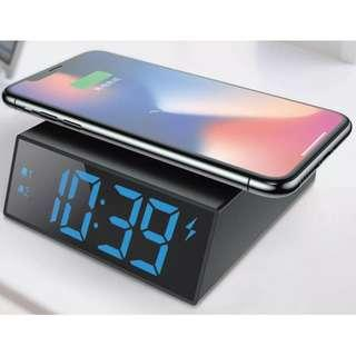 無線充電LED 座枱鬧鐘 ; Wireless charger & LED alarm clock