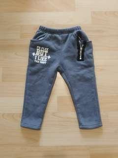 🚚 5號灰色刷毛棉褲