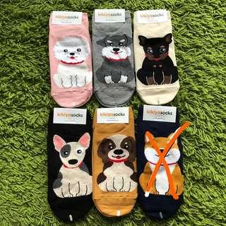 <Instocks> Cute Dog Korean ankle socks