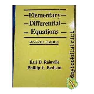 Elementary Differential Equations by Rainville and Bedient