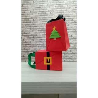 Mini Origami Paper Bag Natal Size M