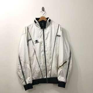 VINTAGE CHAMPION WHITE WINDBREAKER