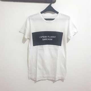 🌸 White Slogan Tee (Shirt) #bersihbersih