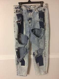 ⚫️F21 Distressed Ripped Denim Jeans