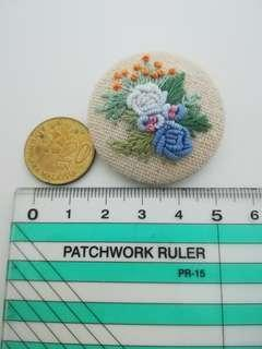 Embroidered button code#EB123