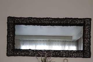 Rattan Long Mirror from Barang-Barag