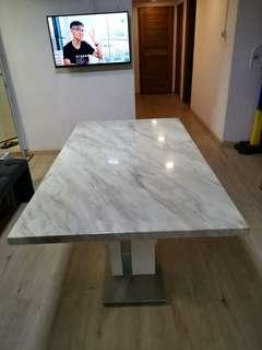 White Marble Dining Table