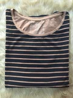 PEP & CO My Perfect T-Shirt Choco Brown Stripes LS (oversized)