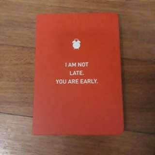 A6 Epigram Red Notebook