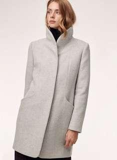 XS Aritzia Wilfred wool cocoon heather white NWT