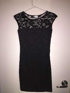 Mini Lace Dress - Black