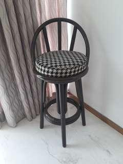 High chair made from solid rattan