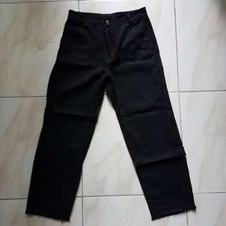 Boyfriend Jeans Black High Waisted