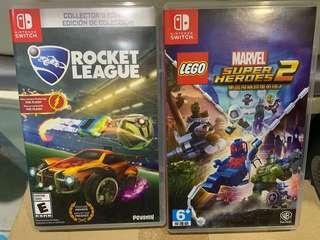 Rocket league + marvel super heroes 2 switch