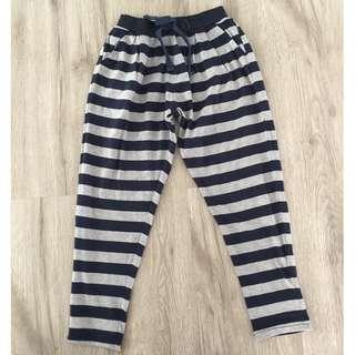 Blue & Grey Stripes Joggers