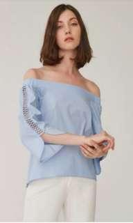 Collate the label off shoulder ribbon top