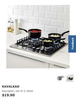 Set of 3 pans - brand new