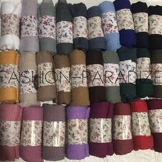 SALE 5for$30 Arabic fringed maxi cotton shawls hijab