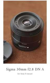 Sigma 30mm f28 DN (A) for Sony E-mount MULUUUSS..!