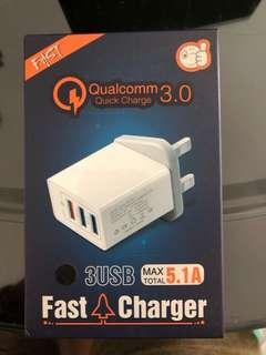 Qualcomm 3.0 fast charger 3usb