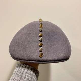 金屬鉚丁小偷帽/扁帽