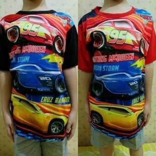 Kaos Tshirt Anak Import Thailand Karakter Cars Mobil Mcqueen