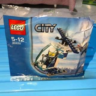 Lego 30222 city police helicopter polybag